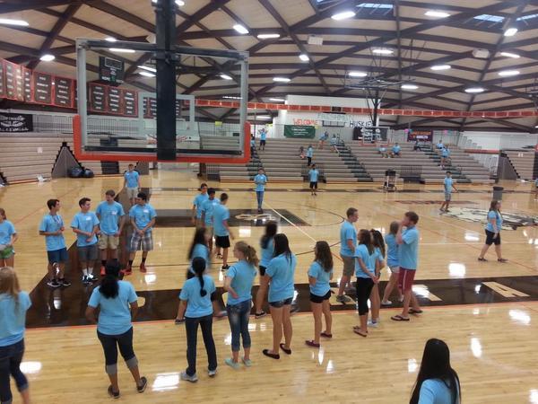 Link Leaders preparing for freshmen orientation
