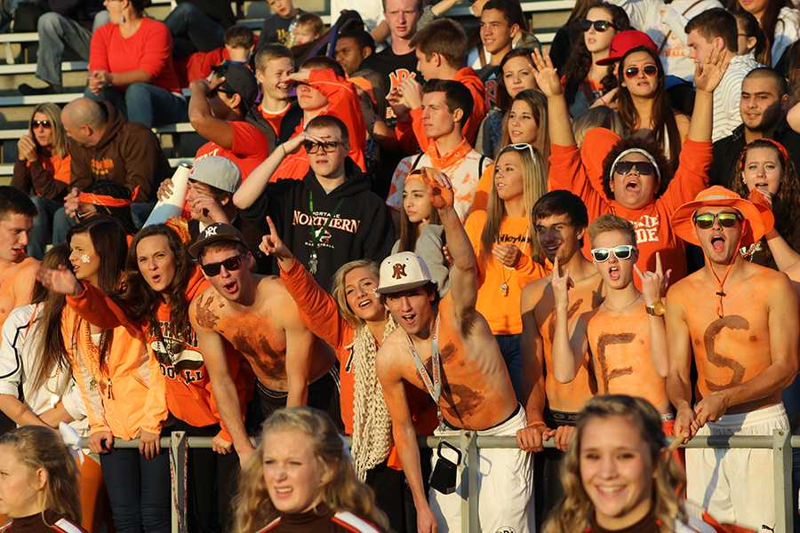 Super Fans scream for a victory against Niles