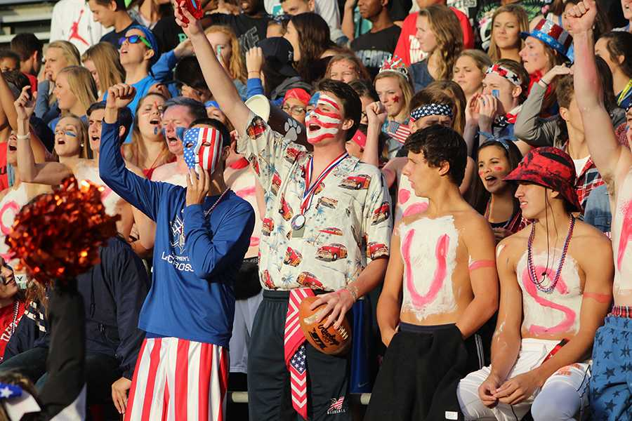 Tommy Henry leads the red, white, and blue superfans as they honor the fallen and heroes of September 11.