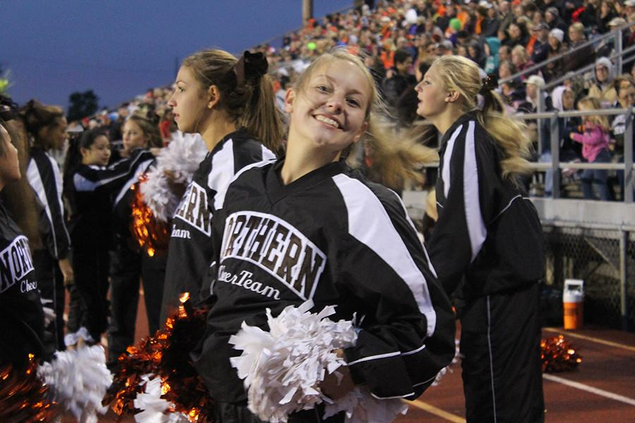 Abbey Newell (12) shows her Northern spirit.