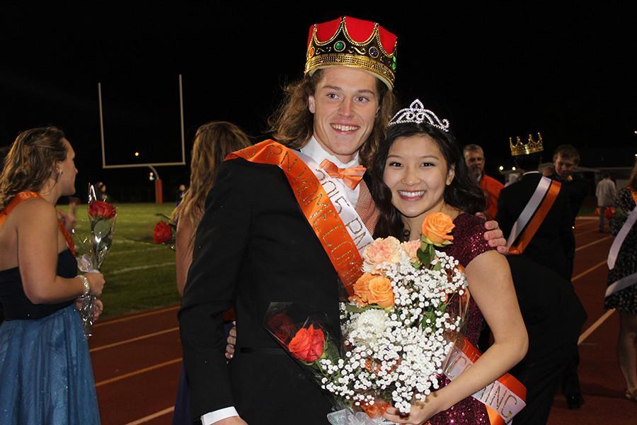 King Wayne Matunas and Queen Ni Pham bring home the crowns.