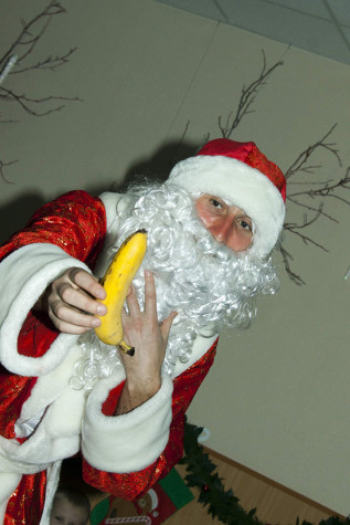 Santa Claus and banana