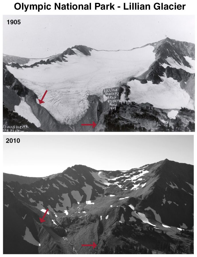 This+photo+shows+the+recession+of+the+Lillian+Glacier+at+Olympic+National+Park.