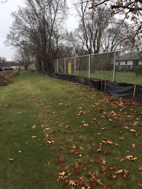 This is an example of the silt fences that stop soil from going places where it's not supposed to.