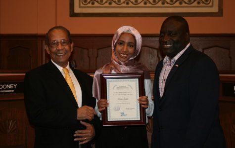 Senior Issra Said wins Kalamazoo Social Justice Youth Award