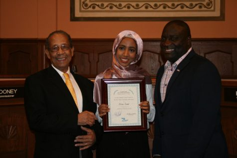 Senior Issra Said wins Kalamazoo Social Justice Youth Award