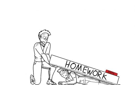 Under pressure: students are crushed by the weight of homework