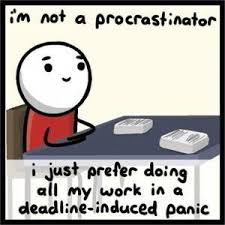 Cramming: the prevalence of procrastination in the high school setting