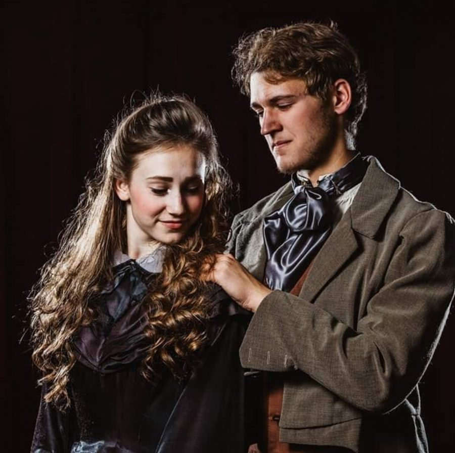 Picture of Ben Eiler during his last performace in Les Miserables, where he was chosen to play Jean Valjean. Also in the picture is Rosemary Coryell, who played Cosette.
