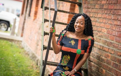 Stephen chose to wear an African-print dress in her senior pictures to recognize her heritage as she plans her future.