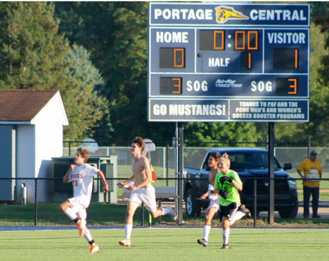 JV soccer team defeats Portage Central