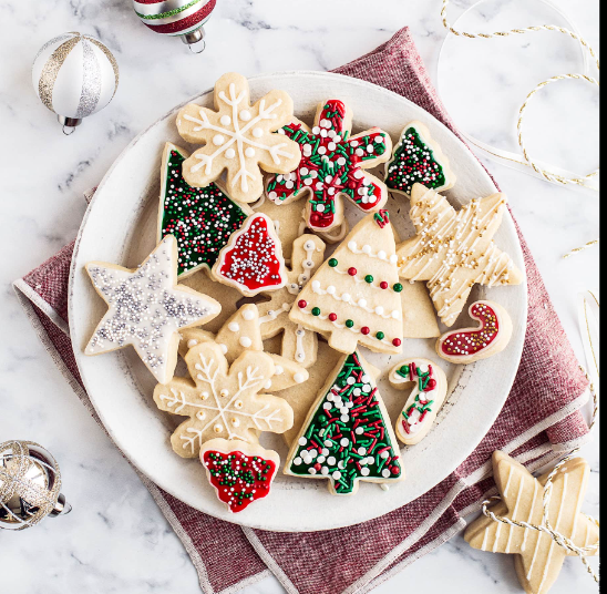 Holiday sugar cookies are always a crowd-pleaser.