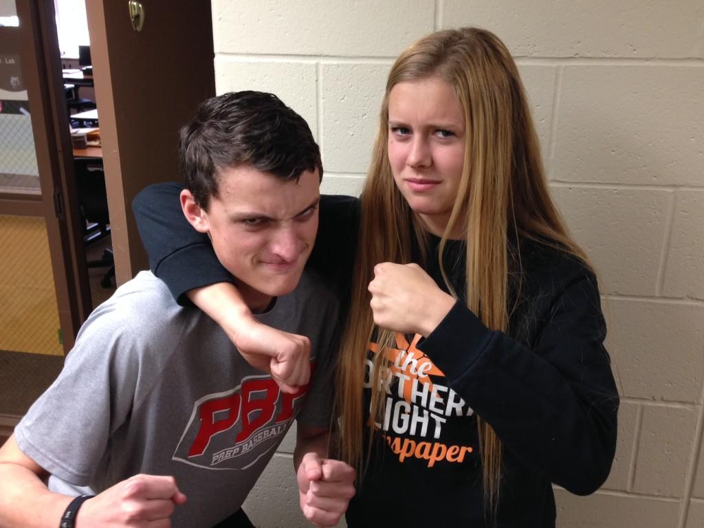 Ally Rabe (12) shares her frustration with the males rep Andrew Stone (12).