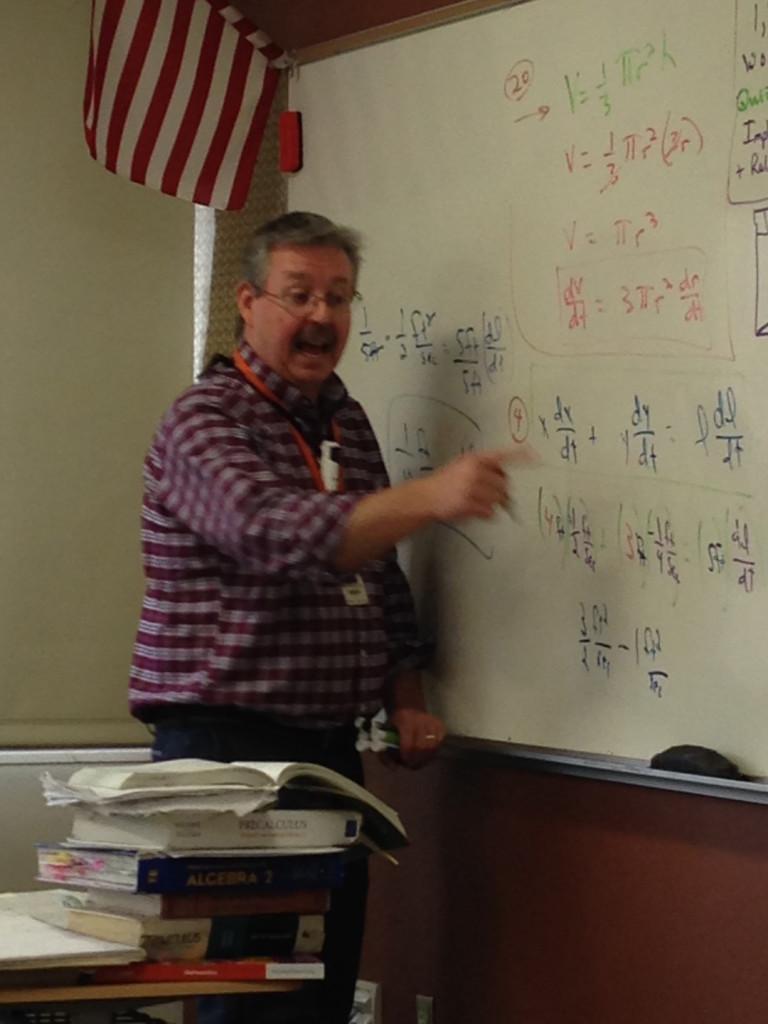 Mr.+Swoboda+teaches+a+lesson+in+5th+hour+calculus.