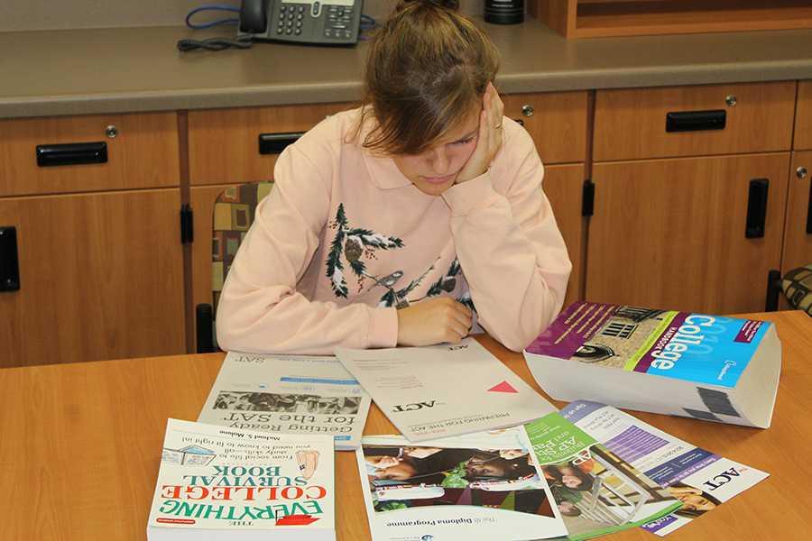 Maddie Parise (12) ponders her post high school plans