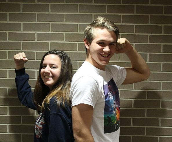 Callista Brown (11) and Jean-Luc (12) are flexing for the battle of gender equality.