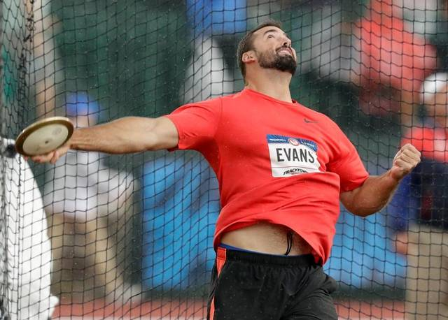 Recent Portage Northern graduate, Andrew Evans, throws discus qualifying for The Olympics.