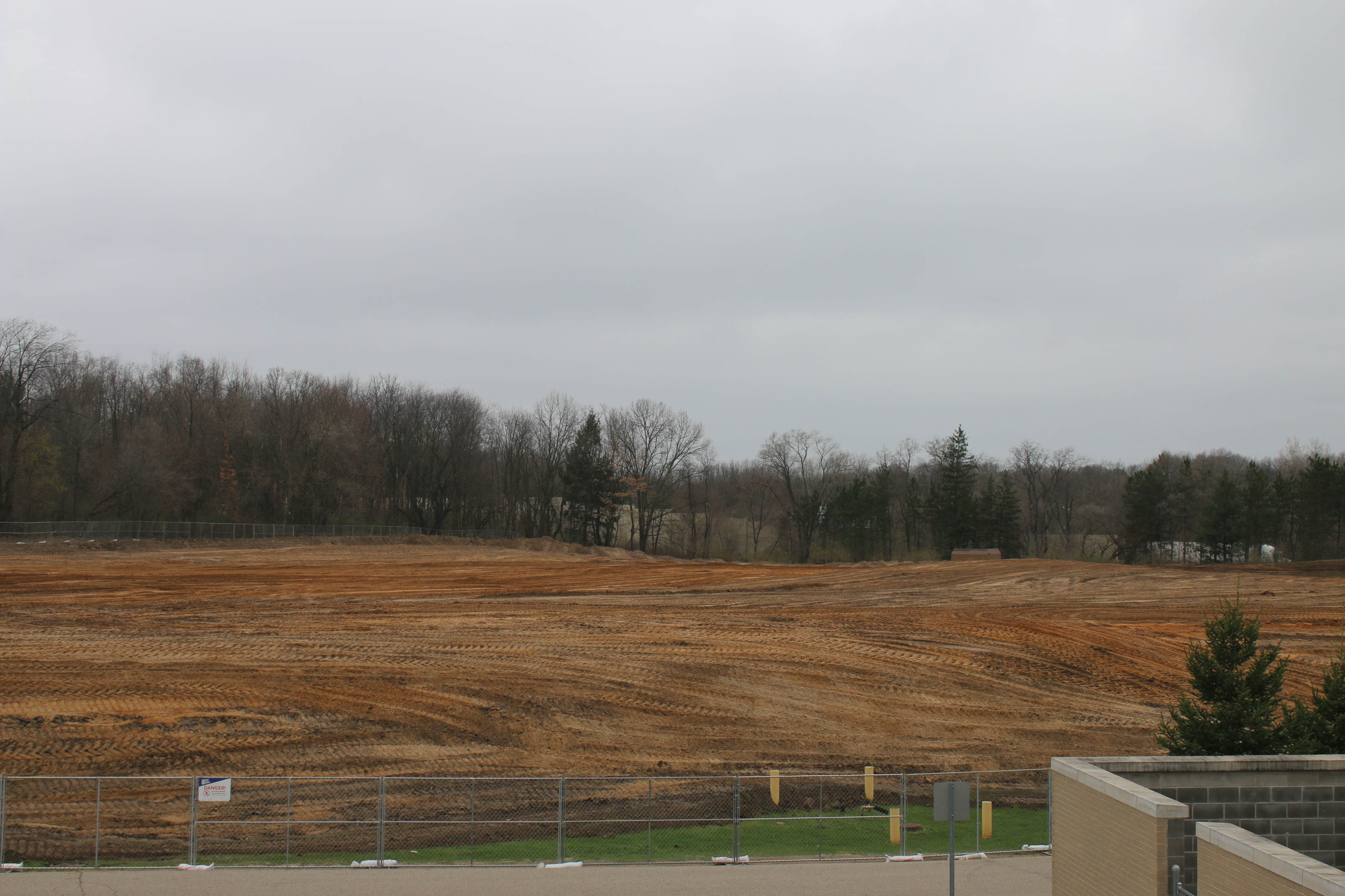 The old lacrosse field, which is the future stadium site.