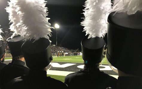 A performer's eye view of a marching competition