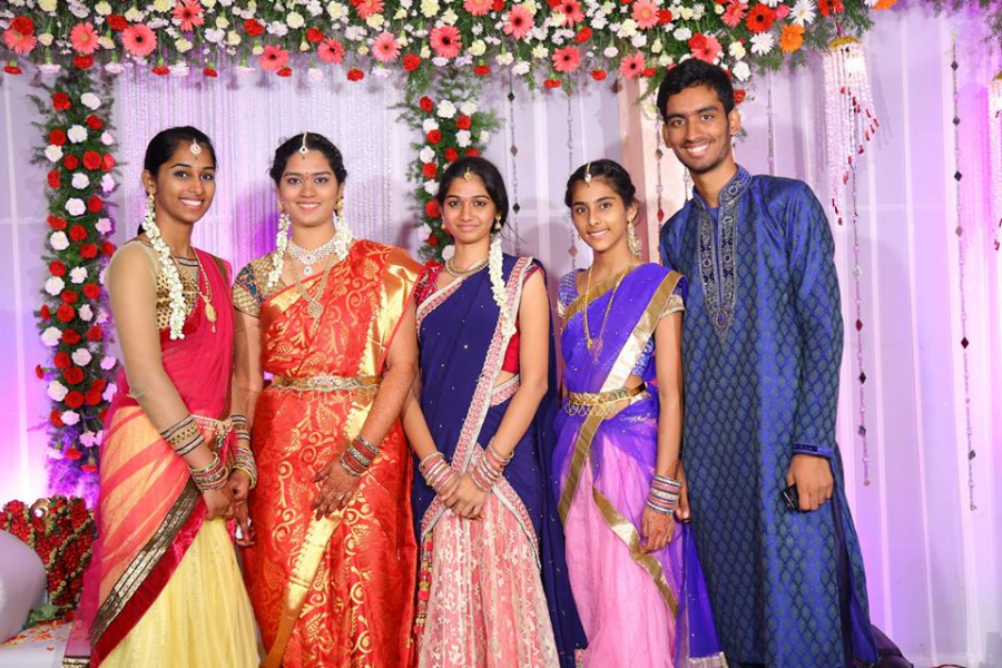 My sister and cousins at my eldest cousins engagement party (2015).