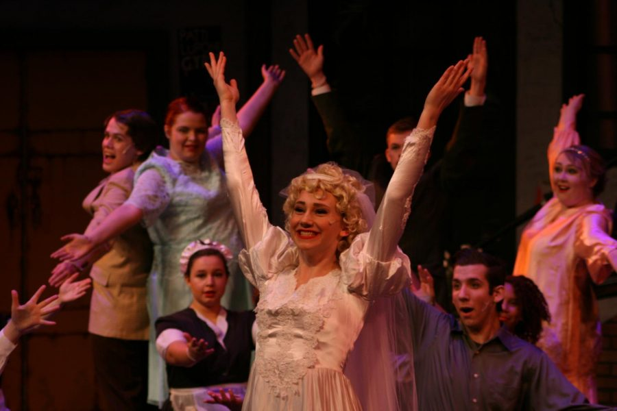 Junior Rosie Coryell has proven her capabilities on the stage at PN. Last year in Into The Woods she sang beautifully as Cinderella, and this year she 'shows off' as a star turned fiancé. All photos in this gallery by Lily Antor.