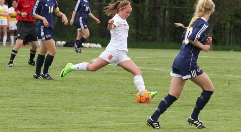 Varsity soccer player Gracie Poulsen: down but not out