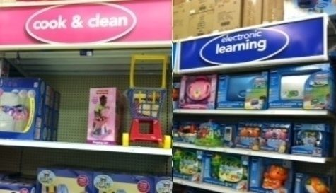 Even the toy store is gender segregated
