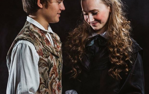 "Coryell poses as Cosette from Les Miserables along with her castmate Jason Koch, who plays Marius. ""The show has just been so amazing to work on because all of the different people that are in the show with me are just so talented,"" says Coryell. Photo credit: Brian Wolfe."