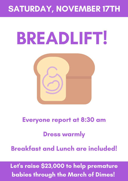This poster was found all around the halls of Portage Northern in the weeks leading up to Breadlift