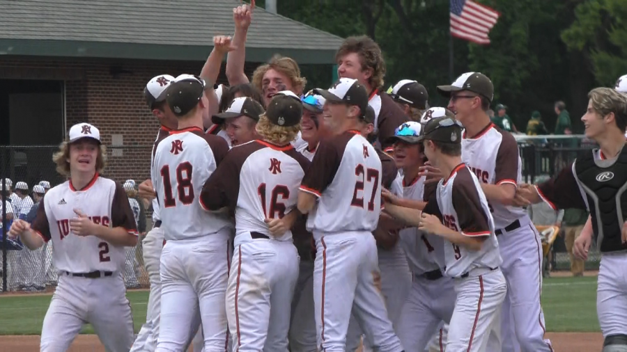 The Huskies celebrate on the field after winning the first ever state championship in school history. We always talk about having a championship culture, it was important for us to get a championship to go with it, said senior Tyler Helgeson. It was our goal the whole year.