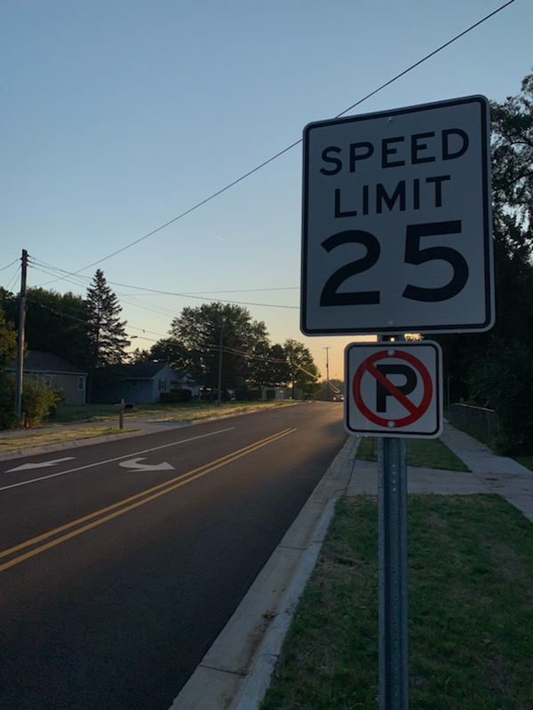 This speed limit sign is just one of many ignored by drivers around Portage Northern.