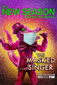 Masked singers, but not a masked audience