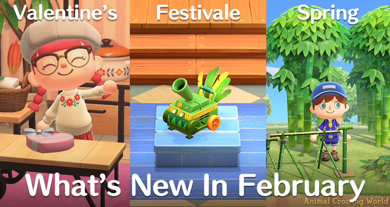 Festivale is a key attraction in February's Animal Crossing updates.