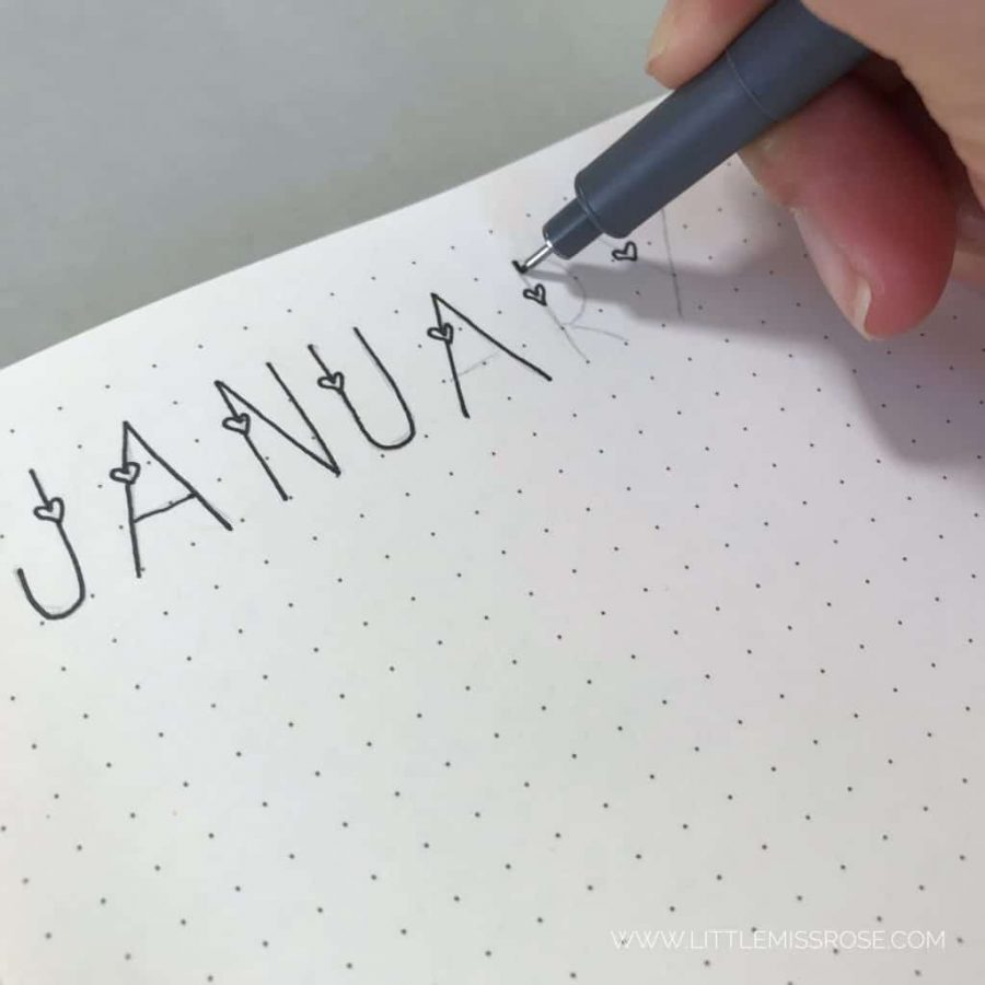 Journaling offers a great, therapeutic outlet to experiment with your own handwriting and thoughts.